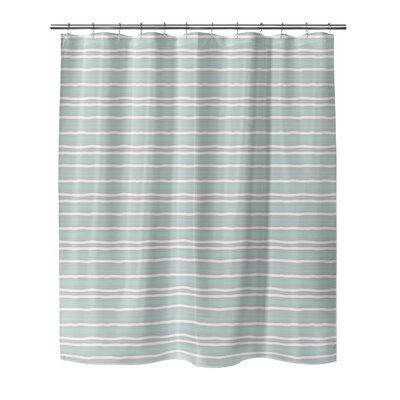 Evins Shower Curtain Color: Mint, Size: 70 H x 72 W