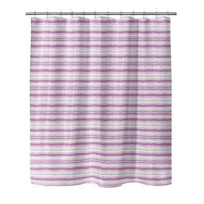 Evins Shower Curtain Color: Pink, Size: 70 H x 72 W