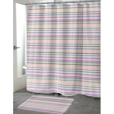 Dunanney Shower Curtain Size: 70 H x 90 W