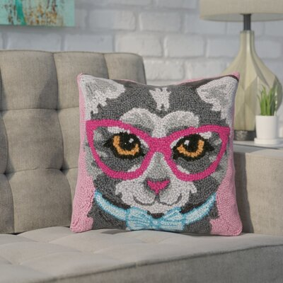 Dutcher Cat Wool Throw Pillow