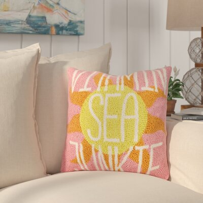Hockman Vitamin Sea Junkie Wool Throw Pillow