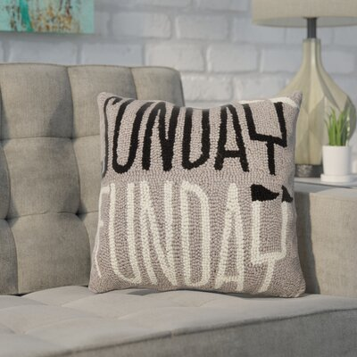 Durden Sunday Funday Wool Throw Pillow