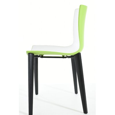 Sigman Dining Chair Color: Green/White