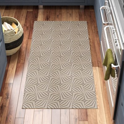 Queen Charlton All Weather Unique Runner Kitchen Mat Mat Size: 22 x 39, Color: Beige
