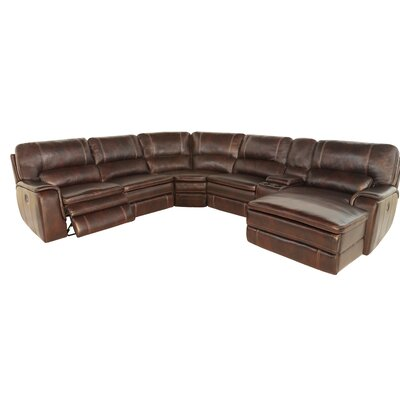 Riney Power Reclining Sectional (Set of 7) Orientation: Right Hand Facing