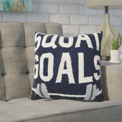 Durkee Squat Goals Wool Throw Pillow