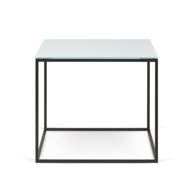 Soltane Glass End Table Table Base Color: Black