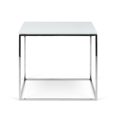 Soltane Glass End Table Table Base Color: Silver