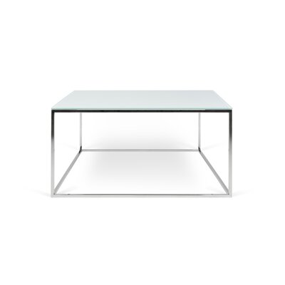 Soltane Glass Coffee Table Table Base Color: Silver