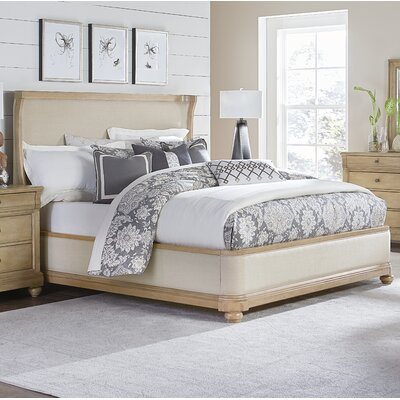 Ashby Woods Upholstered Panel Bed Size: King
