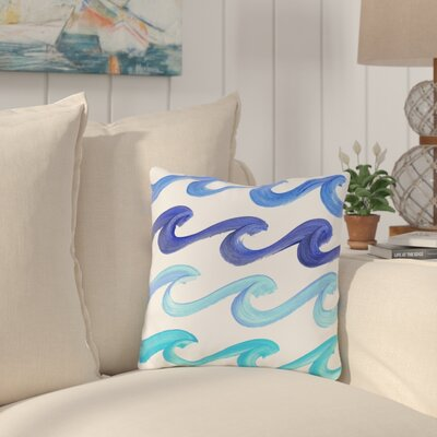 Eckles Wave Outdoor Throw Pillow Size: 16 x 16