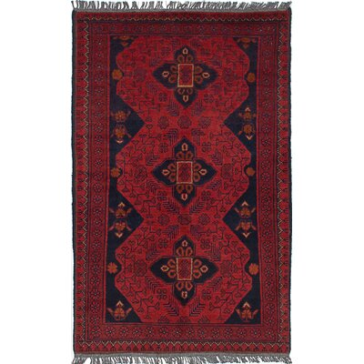 One-of-a-Kind Willson Finest Hand-Knotted Wool Red Area Rug