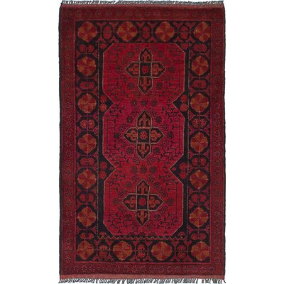 One-of-a-kind Willson Finest Hand-Knotted Wool Dark Red Area Rug