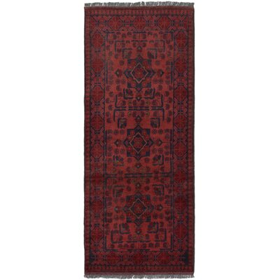 One-of-a-Kind Willson Finest Hand-Knotted Wool Dark Copper Area Rug