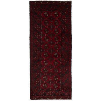 One-of-a-Kind Willson Hand-knotted Wool Dark Red Area Rug