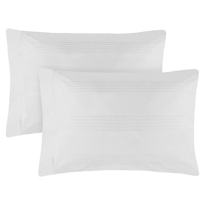 Adalric Premium Cotton Pillowcase Size: King, Color: White