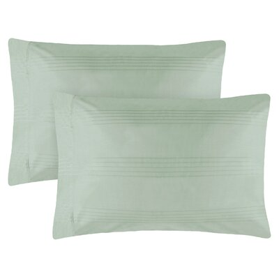 Adalric Premium Cotton Pillowcase Size: King, Color: Aqua
