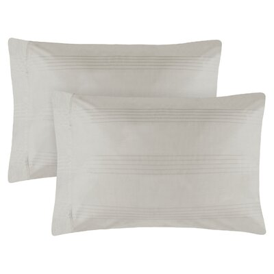 Adalric Premium Cotton Pillowcase Size: King, Color: Silver