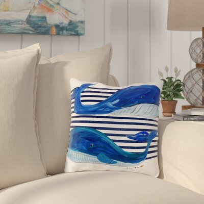 Ebner Outdoor Throw Pillow Size: 18 x 18