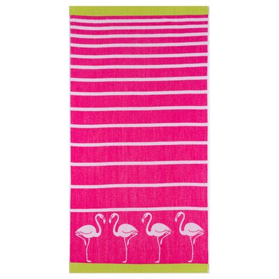 Woodhill Stripe Flamingo Beach Towel