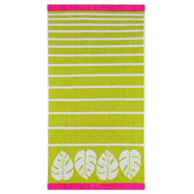 Kazivera Stripe Banana Leaf Beach Towel