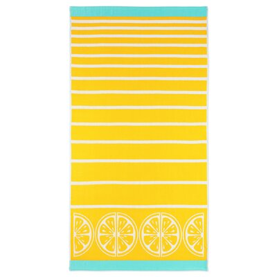 Woodhill Stripe Lemon Beach Towel
