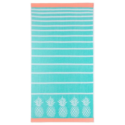 Kazivera Stripe Pineapple Beach Towel