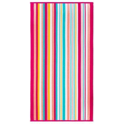 Ramonne Dobby Stripe Fruit Punch Beach Towel