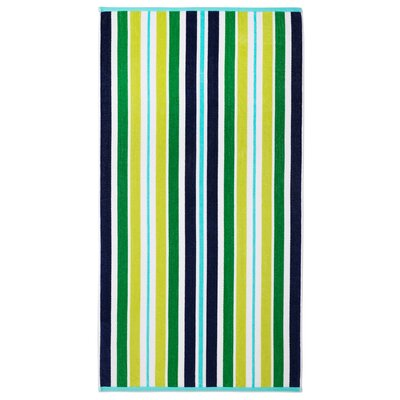 Feissal Dobby Stripe Greenery Beach Towel