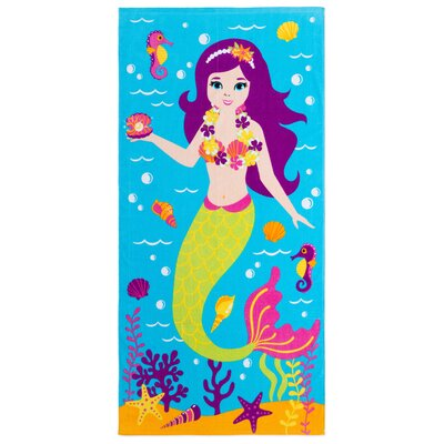 Jermey Hawaiian Mermaid Beach Towel