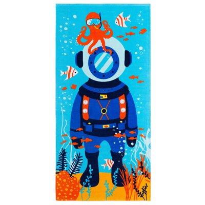 Jeramie Scuba Diver Beach Towel