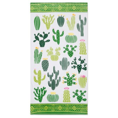 Hypoluxo Cactus Beach Towel
