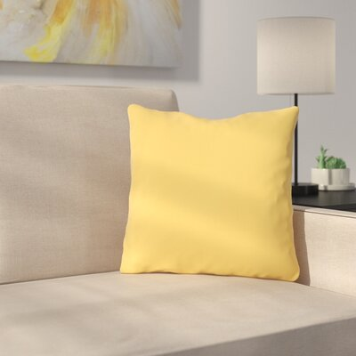Bilderback Outdoor Throw Pillow Color: Dandelion