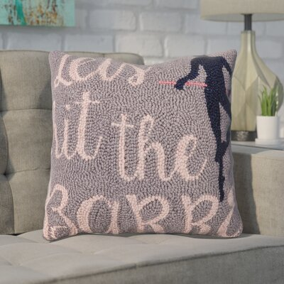Dyonisia Lets Hit the Barre Wool Throw Pillow