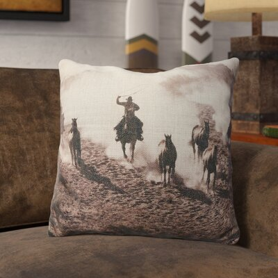 Priebe Burlap Throw Pillow