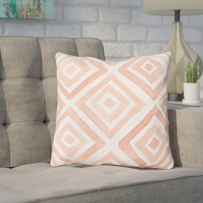 Alcinous Peachy Outdoor Throw Pillow Size: 18 x 18