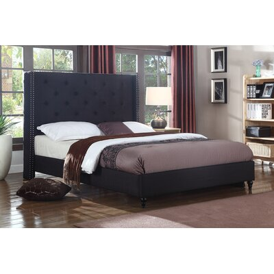 Priestley Upholstered Platform Bed Size: California King, Color: Black
