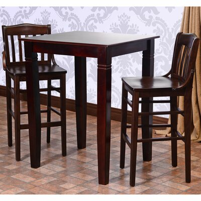 Kershaw 3 Piece Pub Table Set Finish: Walnut