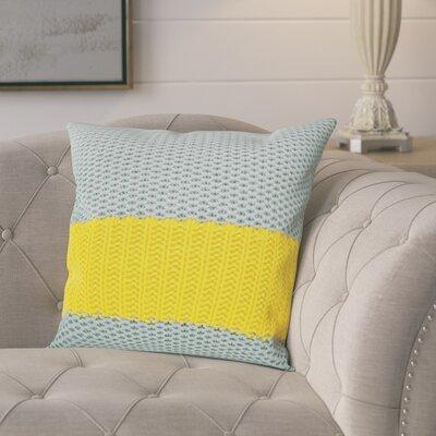 Girton Throw Pillow Color: Gray/Yellow