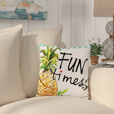 Palomar Fun Times Outdoor Throw Pillow Size: 18 x 18