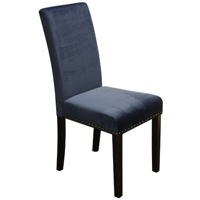Imel Upholstered Dining Chair Upholstery: Dark Blue Velvet Cover