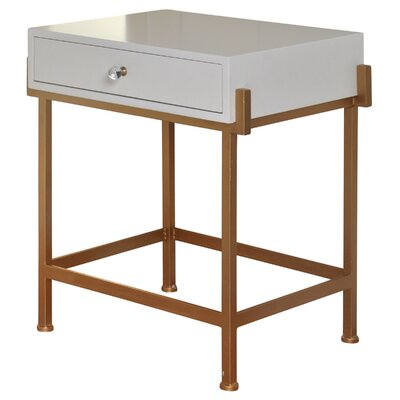 Hobgood 1 Drawer End Table with Storage