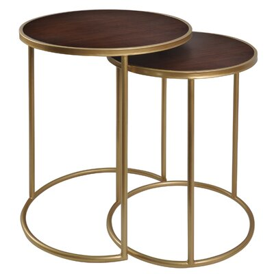 Matias Metal 2 Piece Nesting Tables