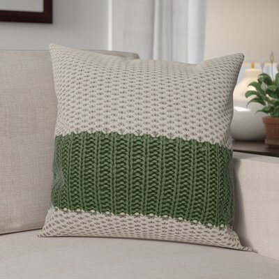 Girton Throw Pillow Color: Gray/Green