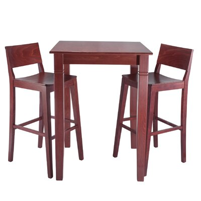 Tektas 3 Piece Pub Table Set Finish: Mahogany