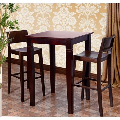 Tektas 3 Piece Pub Table Set Finish: Walnut