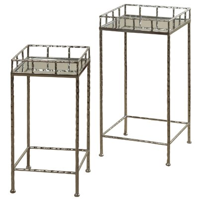 Downey Mirror Top 2 Piece Nesting Tables
