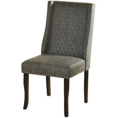 Issac Modified Semi Wingback Upholstered Dining Chair