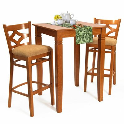 Mignone 3 Piece Pub Table Set Finish: Cherry