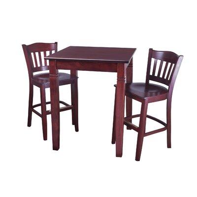 Ladderback 3 Piece Pub Table Set